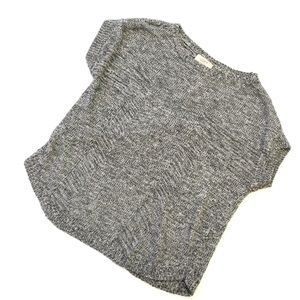 Ann Taylor LOFT Gray Heathered Knit Sweater Size S